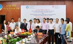 """Lễ ký thỏa thuận dự án """"Thông tin viễn thám và bảo hiểm cây trồng tại các nền kinh tế mới nổi giai đoạn 3"""""""