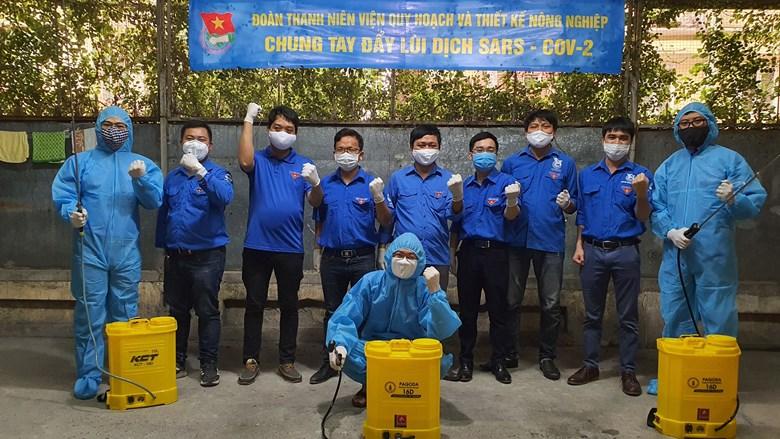 Đoàn thanh niên Viện Quy hoạch và Thiết kế Nông nghiệp chung tay cùng cả nước phòng, chống dịch Covid-19