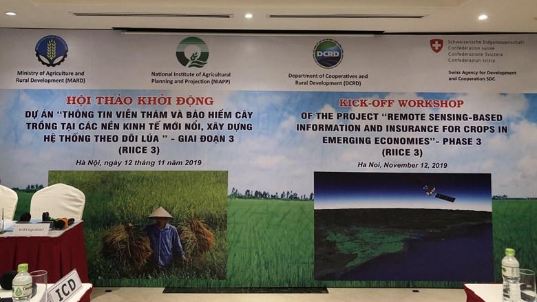 Khởi động dự án RIICE giai đoạn 3 về Hệ thống thông tin viễn thám và bảo hiểm cây trồng